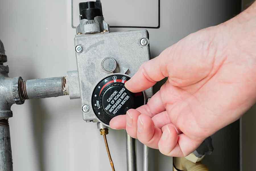 Water heater knob